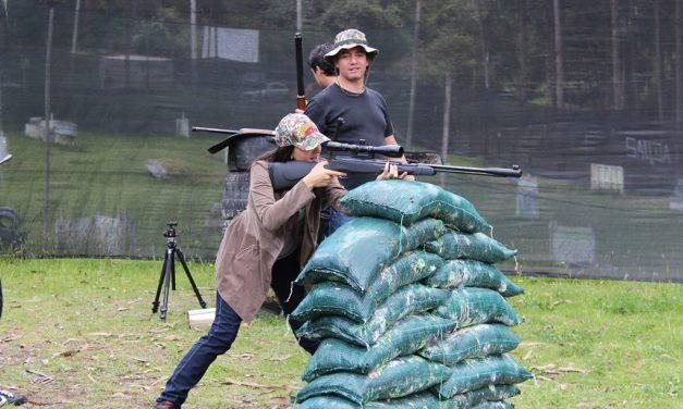 Practicas en el campo de Paintball: Zona de Impacto – Torca 2011